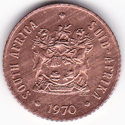 1/2 cent coin South Africa