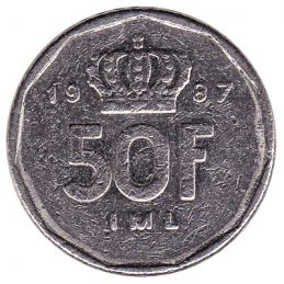Luxembourg 50 francs coin