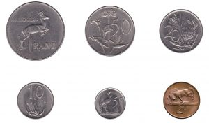 withdrawn South African rand coins