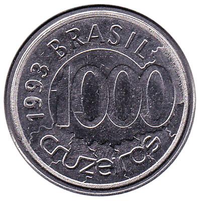1000 Cruzeiros coin Brazil