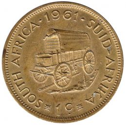 1 cent coin South Africa (first decimal type)