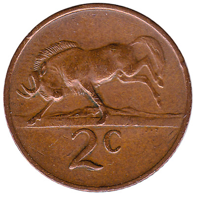 2 cents coin South Africa (large type)