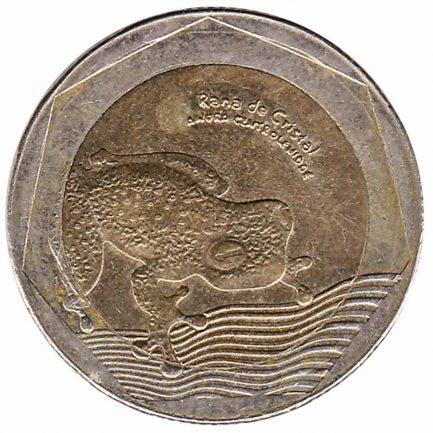 500 Pesos coin Colombia (glass frog)