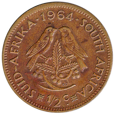 half cent coin South Africa (first decimal type)