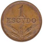 1 Portuguese Escudo coin (large type)