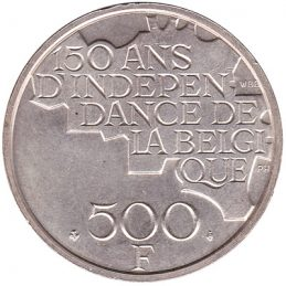 500 Belgian Francs coin (Five Kings)