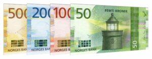 current Norwegian Kroner banknotes