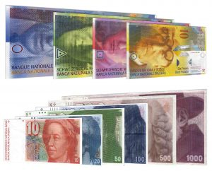 withdrawn Swiss Franc banknotes